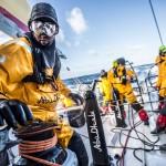 2014-15, Abu Dhabi Ocean Racing, Leg5, OBR, VOR, Volvo Ocean Race, onboard, Daryl Wislang, wet, goggles