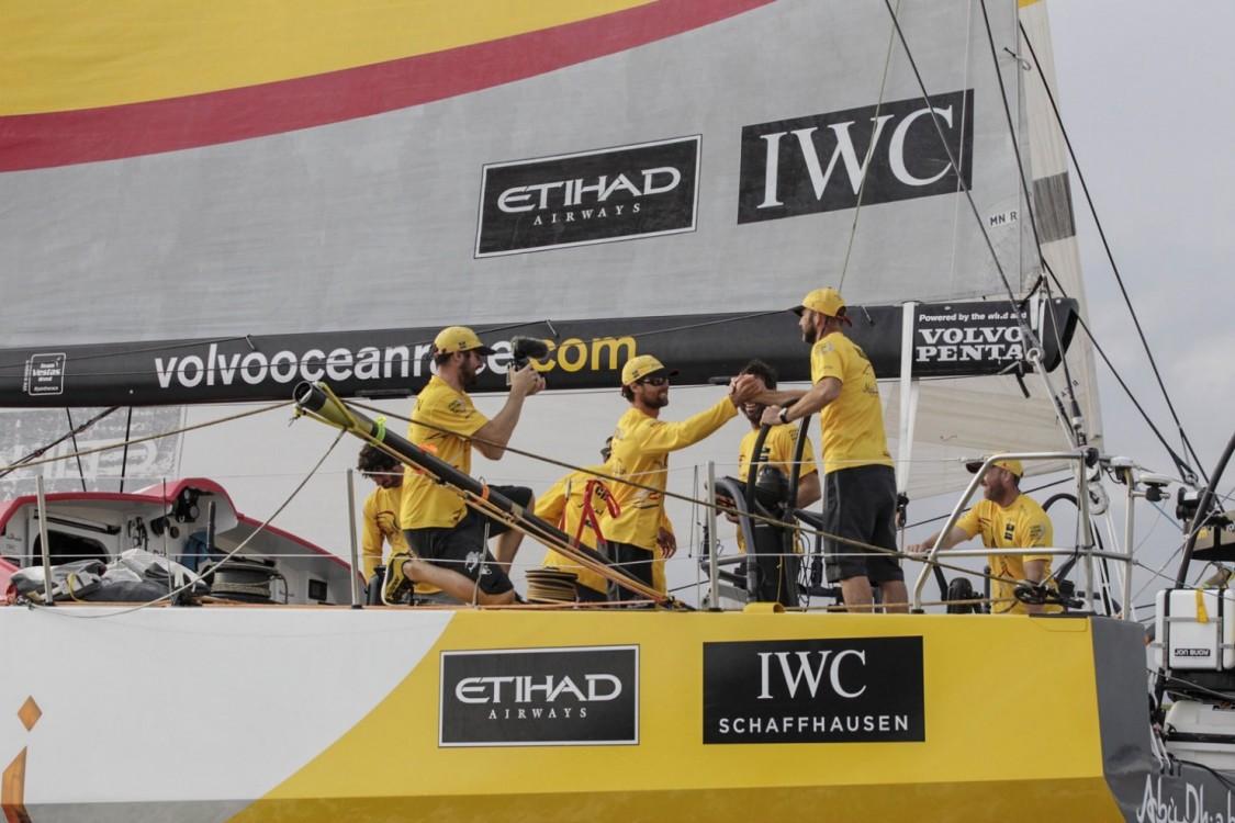 Volvo Ocean Race, 2014-15, VOR, Itajai, Arrivals, Abu Dhabi Ocean Racing