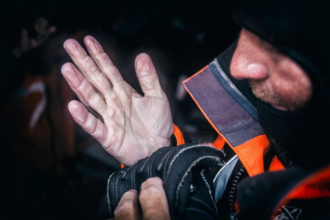 2014-15, Leg5, OBR, ONBOARD, TEAM ALVIMEDICA, VOR, Volvo Ocean Race, Ryan Houston, hands