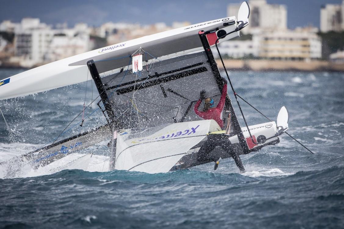 46 Trofeo S.A.R. Princesa Sofia, 46th Princesa Sofia Trophy, Jesus Renedo, Nacra 17, Nacra 17 ARU ARU-212 16 Nicole VAN DER VELDEN Thijs VISSER, olympic sailing, sailing