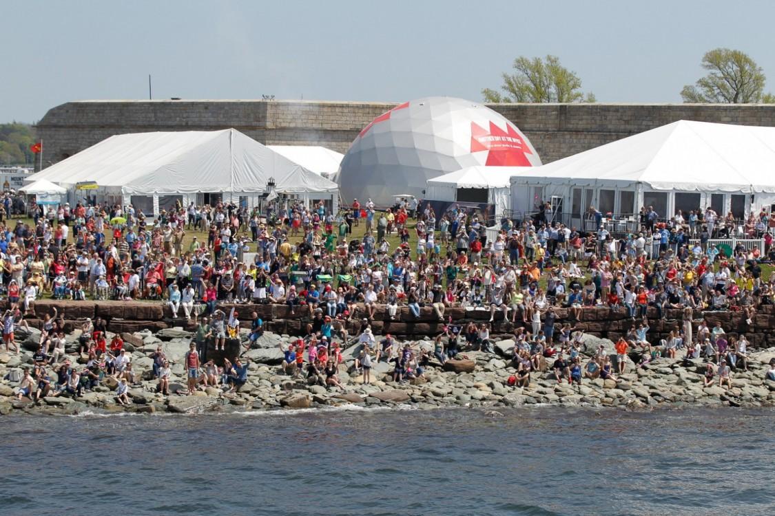 2014-15, VOR, Volvo Ocean Race, Race, crowds, Leg 7, Start, Newport, USA