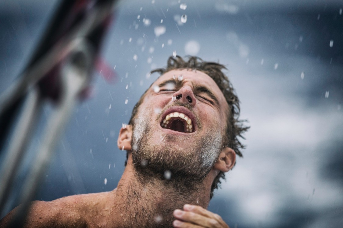 2014-15, Leg6, OBR, ONBOARD, TEAM ALVIMEDICA, VOR, Volvo Ocean Race, Nick Dana, rain, shower, life on board