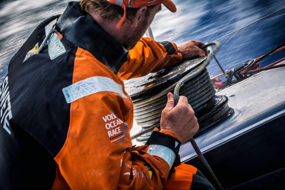 2014-15, Leg6, OBR, ONBOARD, TEAM ALVIMEDICA, VOR, Volvo Ocean Race, Dave Swete, winch