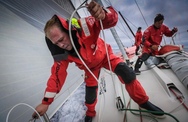 2014-15, Dongfeng Race Team, Leg7, OBR, VOR, Volvo Ocean Race, onboard, Kevin Escoffier, quote, action, bow, Jin Hao Chen, Horace