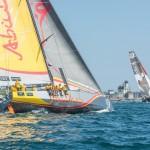 2014-15, VOR, Volvo Ocean Race, Leg7, Newport, Start, Team Alvimedica, Abu Dhabi Ocean Racing