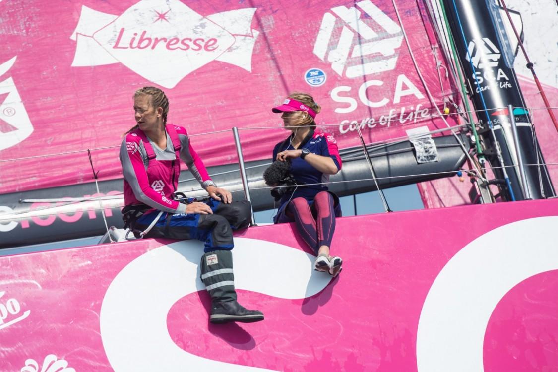 2014-15, VOR, Volvo Ocean Race, Leg7, Newport, Start, Team SCA