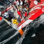 2014-15, VOR, Volvo Ocean Race, Race, Lorient, Aerial, start, Leg9, Dongfeng Race Team, jumper