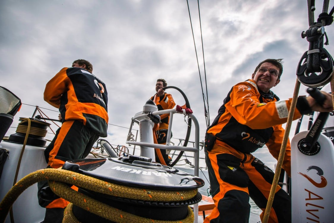 2014-15, Leg9, Onboard, VOR, Volvo Ocean Race, Team Alvimedica, Charlie Enright, Will Oxley, grind, pedestal