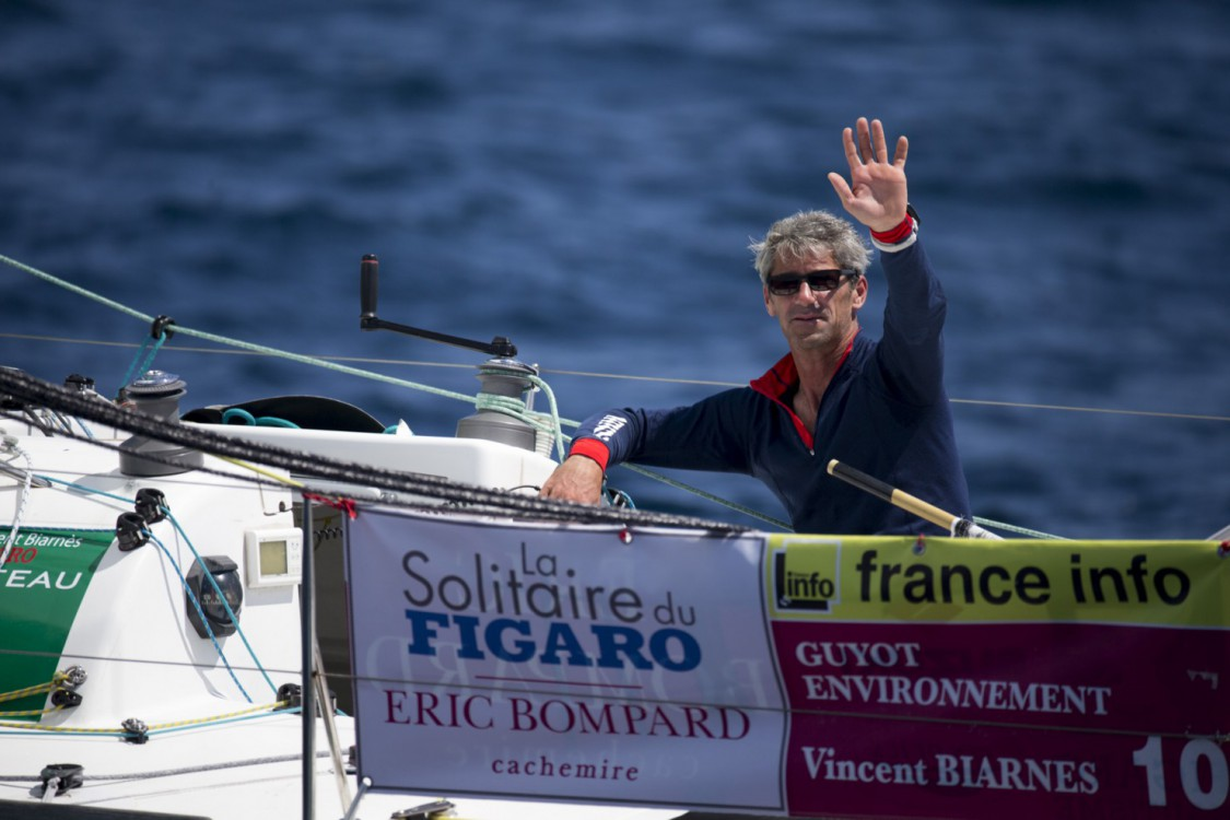 2015, ERIC BOMPARD, ETAPE 2, FIGARO, GUYOT ENVIRONNEMENT, SOLITAIRE DU FIGARO 2015, VINCENT BIARNES, VOILE