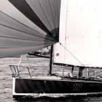 Premiers ballasts sur la Mini Transat à bord d'American Express en 1979