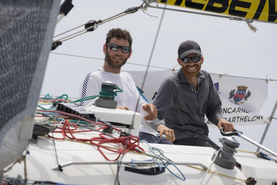 2016, ARRIVEE, ERWAN TABARLY, FIGARO, GEDIMAT, SAINT BARTHELEMY, THIERRY CHABAGNY, TRANSAT AG2R LA MONDIALE, VOILE