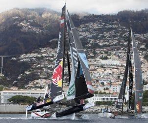 The Extreme Sailing Series 2016, Multihull, Foiling, Catamaran, GC32, Sailing, Racing, Day3, Alinghi, Crash