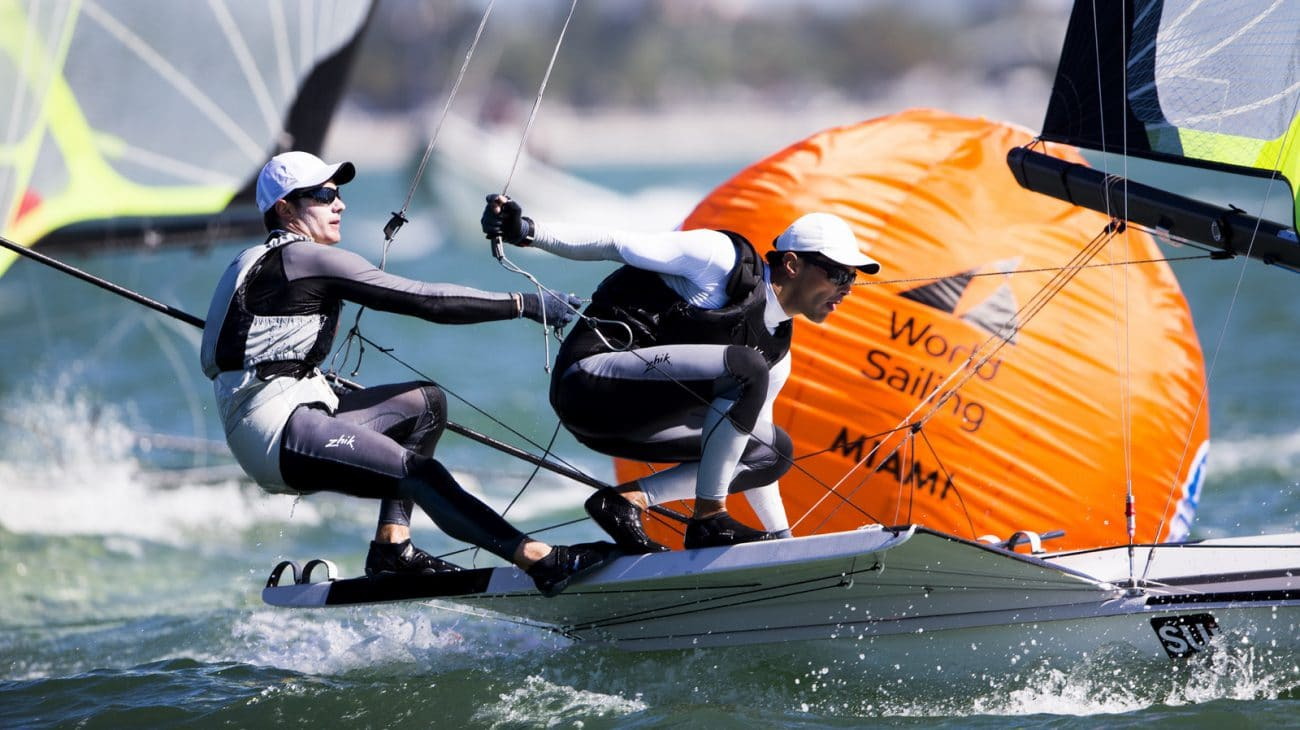2017, 49er, Classes, Olympic Sailing, Pedro Martinez, SUI 111 Sebastien Schneiter SUISS6 Lucien Cujean SUILC1, Sailing Energy, World Sailing, World Sailing's 2017 World Cup Series Miami