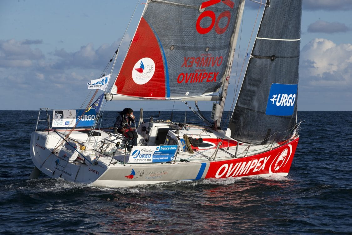 ANTHONY MARCHAND, ETAPE 1, OVIMPEX, SOLITAIRE URGO LE FIGARO 2017