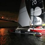 07-2017, NY, USA, THE BRIDGE, FINISH, ARRIVEE, ARRIVAL, ULTIM, TRIMARAN, ACTUAL