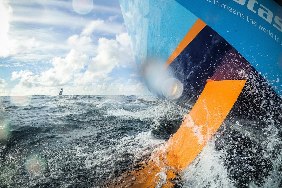 2017-18, Commercial, Detail, Garmin, Keel, Kind of picture, Leg Zero, On board, On-board, Pre-race, Rolex Fastnet Race, Vestas 11th Hour Racing, boat to boat