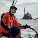 2017-18, Charles Caudrelier, Commercial, Dongfeng, Fastnet Rock, Leg Zero, Musto, On board, On-board, Pre-race, Race Sponsors, Rolex Fastnet Race, Skipper, Vestas 11th Hour Racing, french, helm, wheel