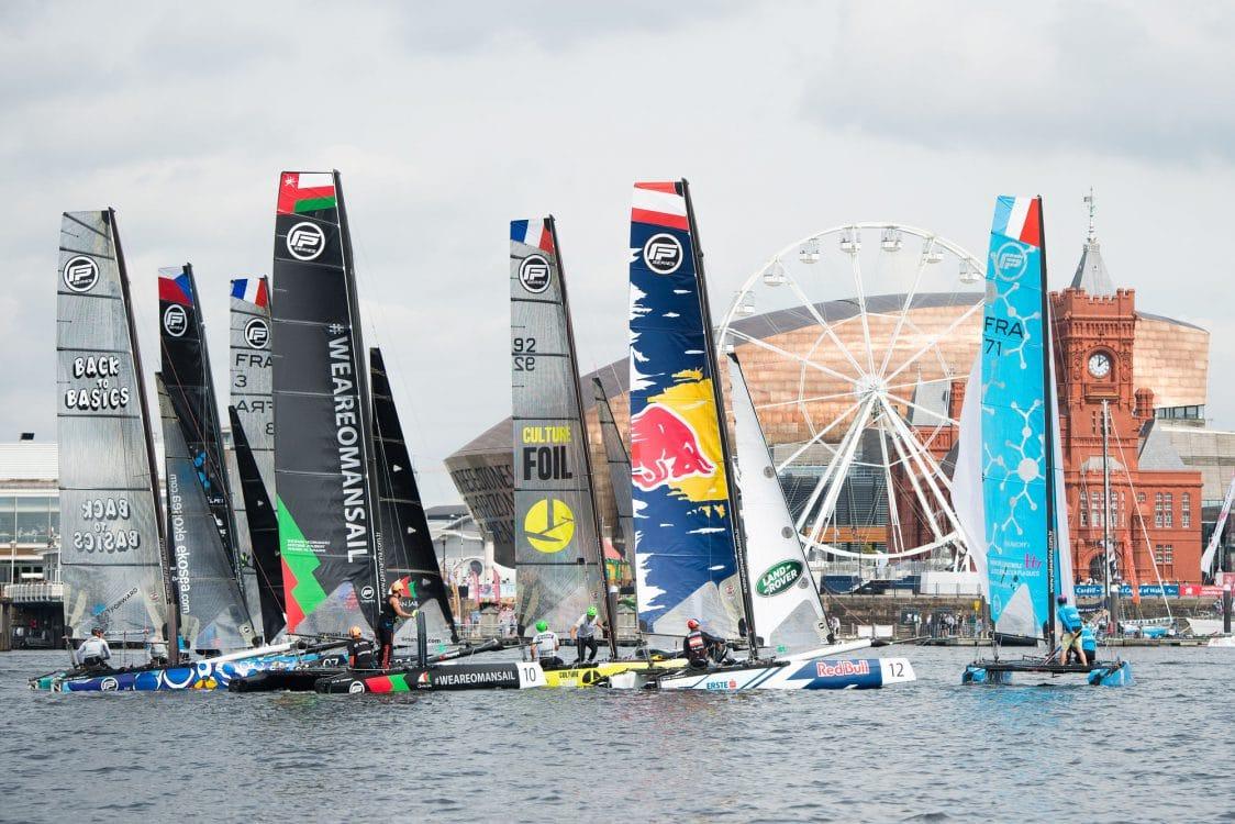 Cardiff, Day2, ESS, Extreme Sailing Series, Fleet, Flying Phantom, Vincent Curutchet
