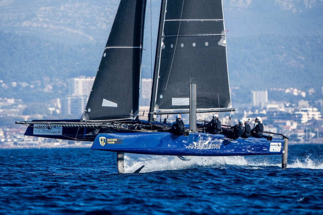 Extreme sailing, Fastest boats, GC32, GC32 MARSEILLE ONE DESIGN, GC32 Racing Tour, MAMMA AIUTO, Marseille, catamaran, foiling, foiling catamaran, one design yacht, sailing, speed, yachting