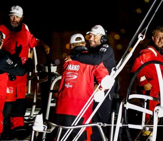Bowman,Skipper,China,Leg 4,Emotion,Hong Kong,Celebration,Luke Parkinson,2017-18,on board,on-board,Arrivals,port, host city,Team Sun Hung Kai/Scallywag,David Witt,Witty,Melbourne-Hong Kong