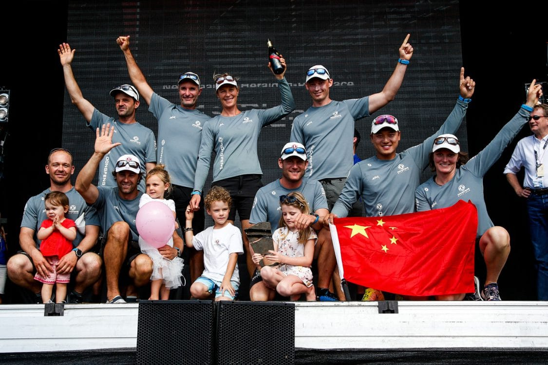 Branding,Dockside,Race Village,Emotion,Stage,Celebration,Dongfeng,dock,2017-18,Racevillage, Village,port, host city,On-shore,Kind of picture,The New Zealand Herald In-Port Race