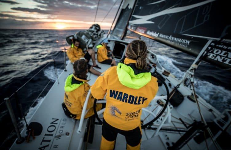 Leg 8,Sunrise,Helm,Liz Wardley,2017-18,on-board,Nature,Teams,Leg,Bowman/ Boat Captain,Turn the Tide on plastic